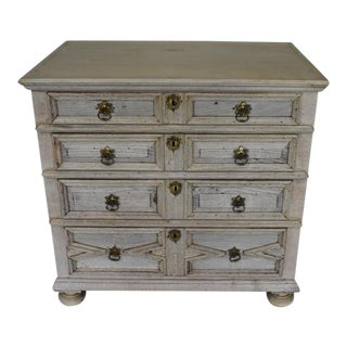 Jacobean Bleached Chest, Commode For Sale