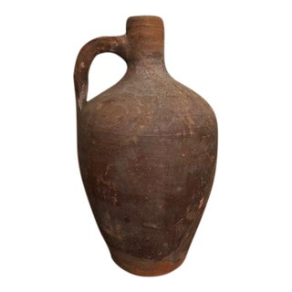 Early 20th Century Antique Greek Stamna Pottery Vase For Sale