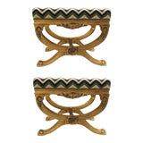 Image of Currey & Co. Transitional Exmoor Benches Pair For Sale
