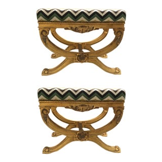 Currey & Co. Transitional Exmoor Benches Pair For Sale