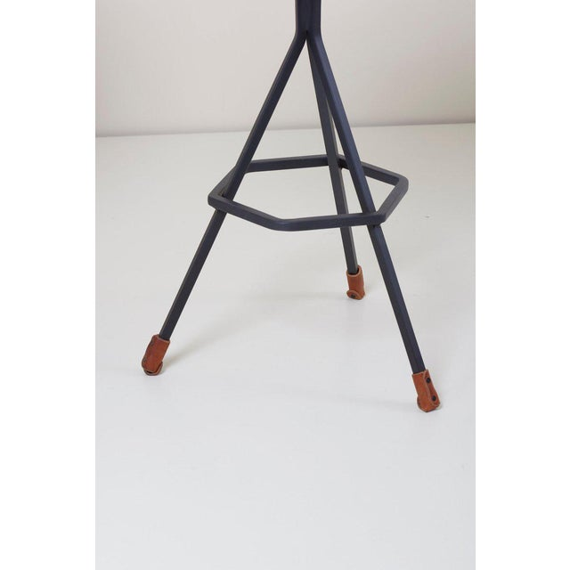 Set of Three Bar Stools by Dan Wenger, Us For Sale - Image 6 of 8