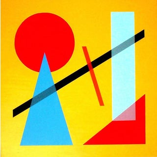 """Contemporary Geometric Oil Painting on Canvas """"Classic I"""" by Jaro For Sale"""