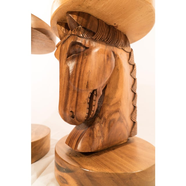 Billy Haines Style Horse Head Game Table and Seats - Image 5 of 11
