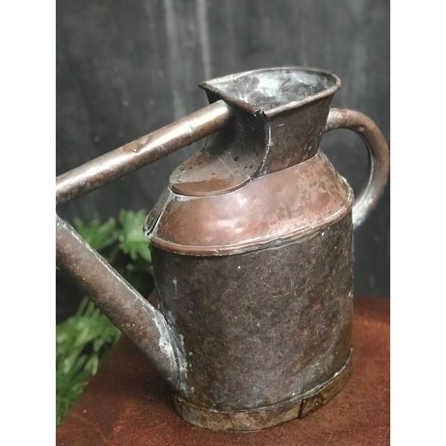 Traditional English Watering Can in Copper From Mid-19th Century For Sale - Image 3 of 5