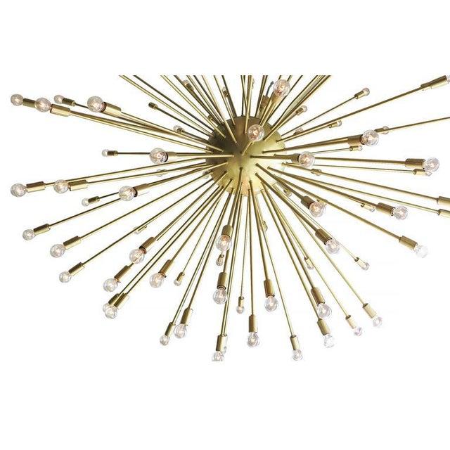 Mid-Century Style Brass Sputnik Chandelier For Sale In Los Angeles - Image 6 of 9