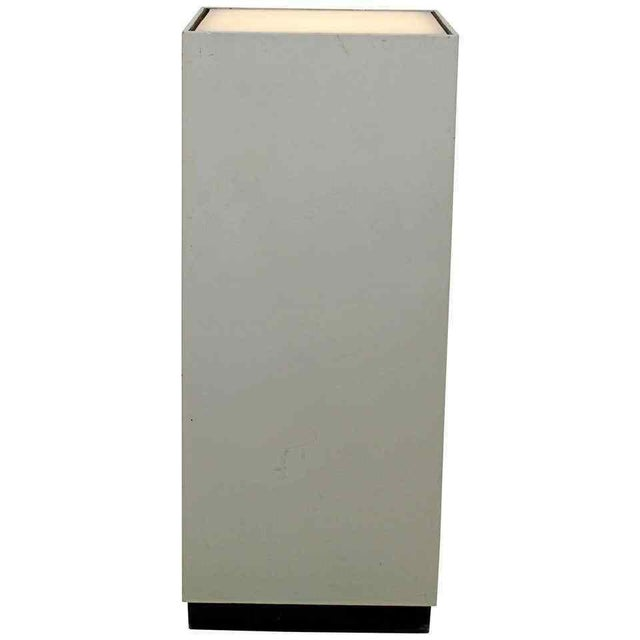 Contemporary Modern Square Lighted Display Pedestal Table For Sale - Image 10 of 10