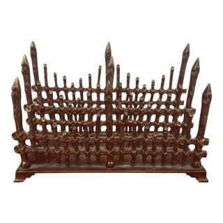 19th Century Bronze Desk Accessory Letter Holder For Sale