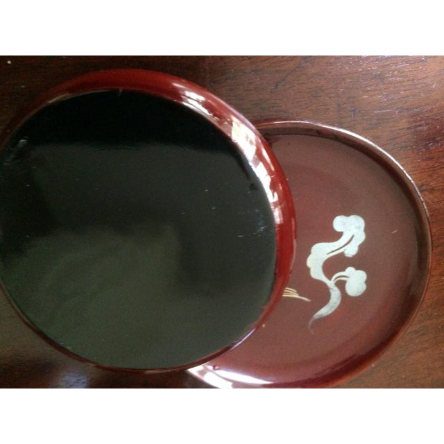 Mid 20th Century Mid-Century Japanese Kyowa Lacquered Coasters in Box - Set of 5 For Sale - Image 5 of 8