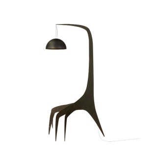 Sculptural Steel Floor Lamp by Bond Design Studio For Sale