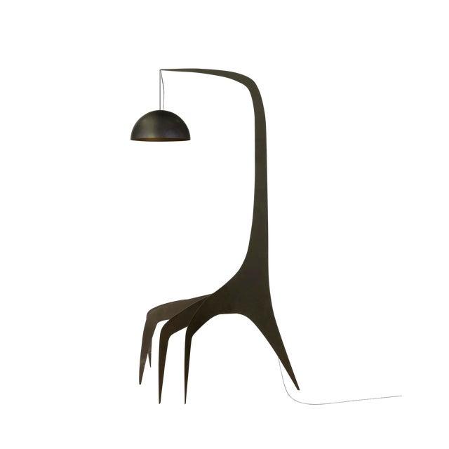 Sculptural Steel Floor Lamp by Bond Design Studio For Sale