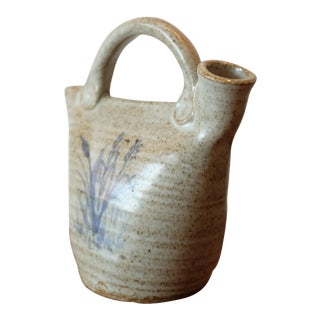 Hand Painted Studio Ceramic Jug For Sale