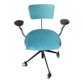 1960's Mid-Century Jorgen Rasmussen Kevi Mint Green Office Chair For Sale
