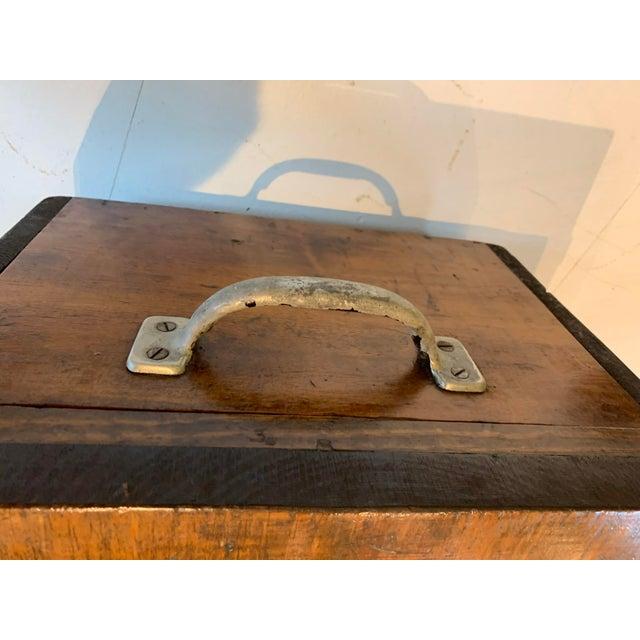 Chestnut 1910s Vintage Wood Trunk For Sale - Image 8 of 9