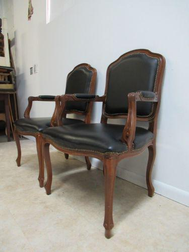 Country Country French Leather Lounge Arm Chairs   A Pair For Sale   Image  3 Of