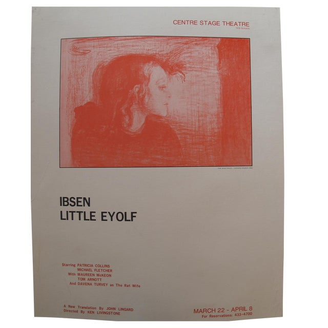 1978 Little Eyolf Centre Stage Theatre Poster - Henrik Ibsen For Sale