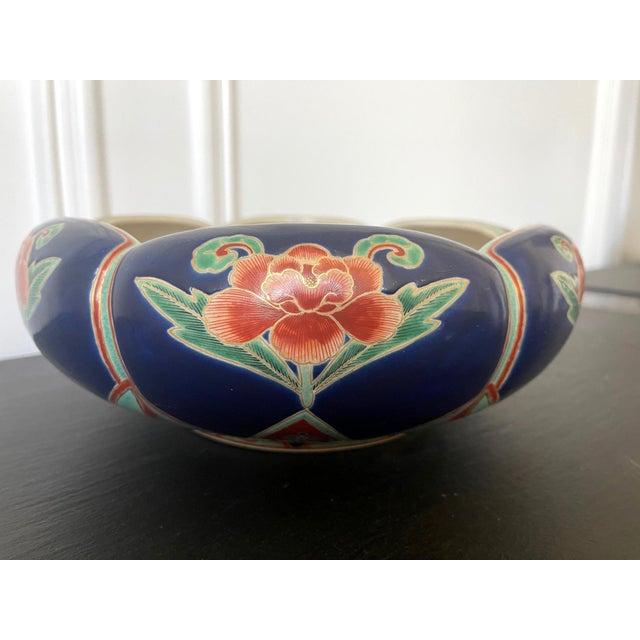 Japanese Ceramic Glazed Bowl Makuzu Kozan Meiji Period For Sale - Image 4 of 13