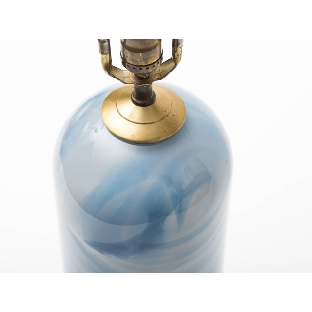 1980s Celestial Swirl Hand Blown Glass Column Lamp For Sale - Image 4 of 8