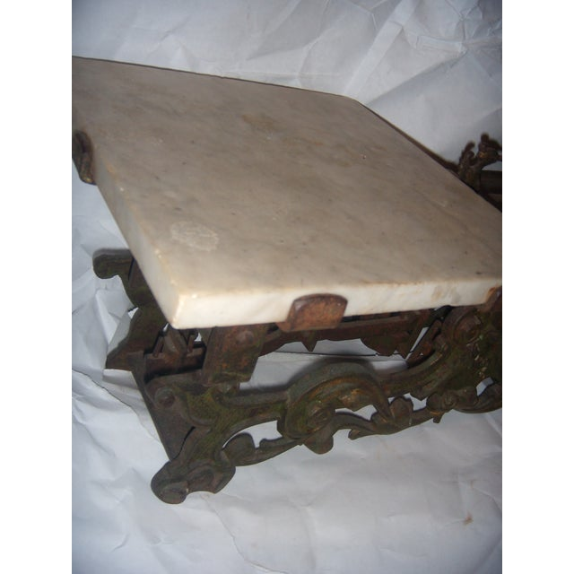 Victorian German Made Cast Iron & Marble Scale For Sale - Image 11 of 11