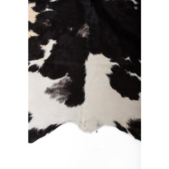 Handmade Black & White Cowhide Area Rug - 6′ × 7′ For Sale In Chicago - Image 6 of 8