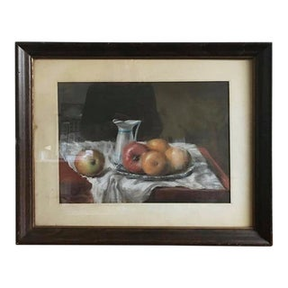 Drawing - Late 20th Century Pastel Still Life Drawing For Sale