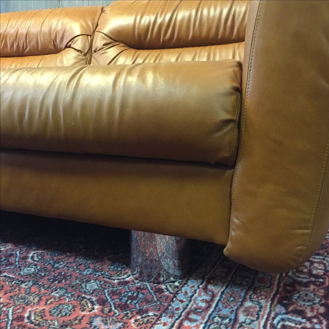 Vintage 1970s Leather and Chrome Sofa - Image 7 of 9