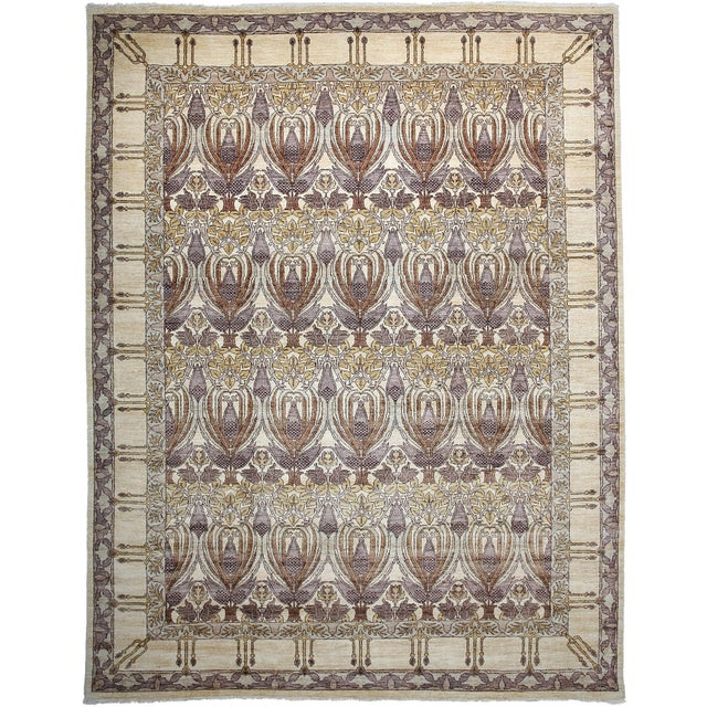 "Arts & Crafts Hand-Knotted Rug - 9'1"" x 11'9"" - Image 1 of 3"