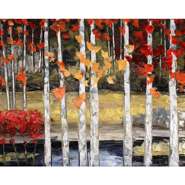 """Le Rideau D'Arbres"" Oil Painting by Richard Riverin For Sale - Image 4 of 4"