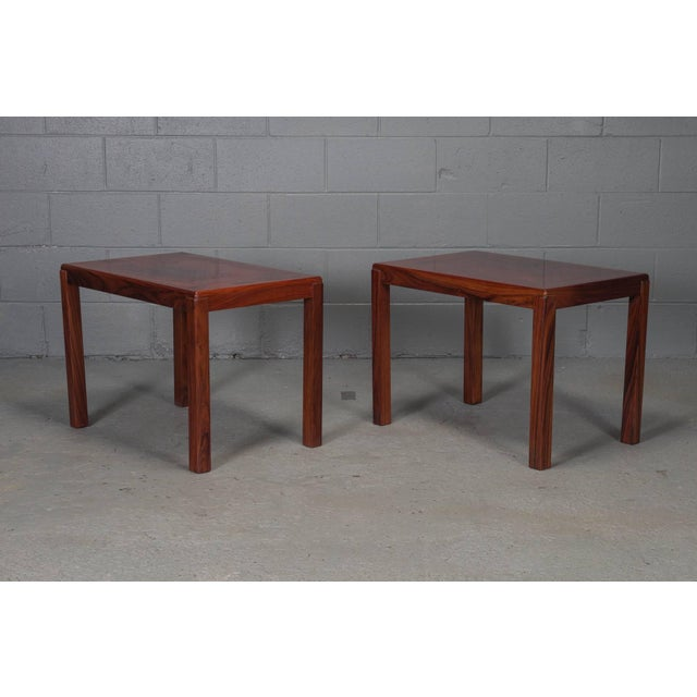 Pair of Danish Modern Rosewood Side Tables For Sale - Image 10 of 10