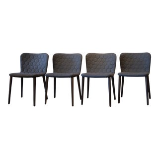 Modern Sancal Tea Dining Chairs- Set of 4 For Sale
