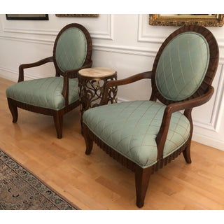 Century Furniture Classic Oval Back Arm Chairs- a Pair Preview