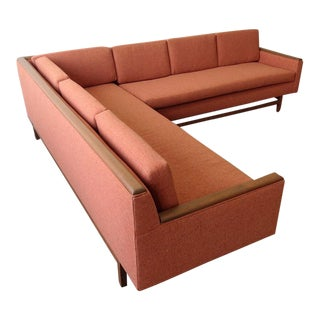 1960s Cantaloupe Orange Sectional Sofa