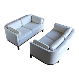 1960 Roger Sprunger for Dunbar Curved Back Settees - a Pair For Sale