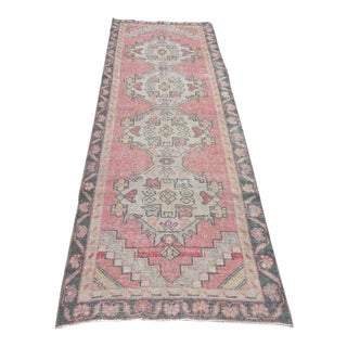 Oushak Vintage Turkish Carpet Runner - 3′ × 8′11″