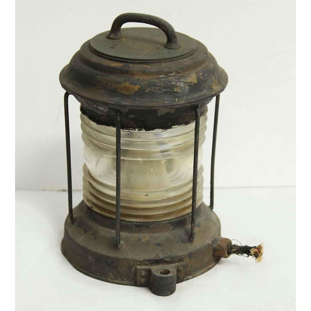 Nautical Lantern With Corning Glass - Image 7 of 7
