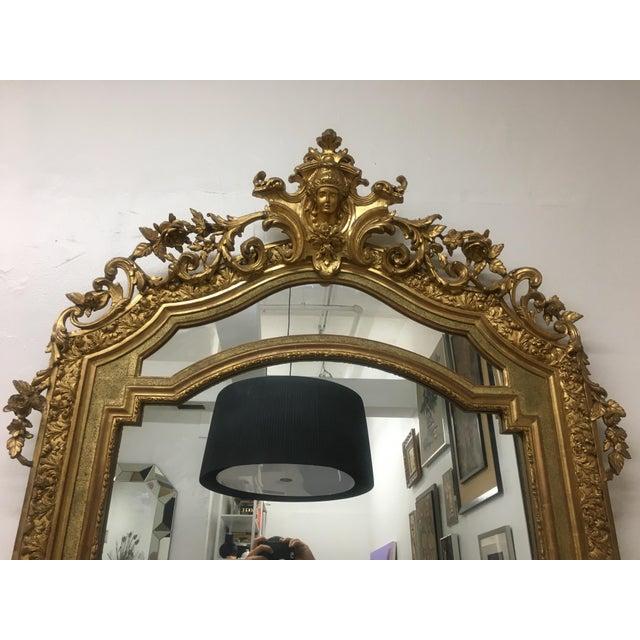 Gilt Framed Arched Floor Mirror For Sale - Image 4 of 11