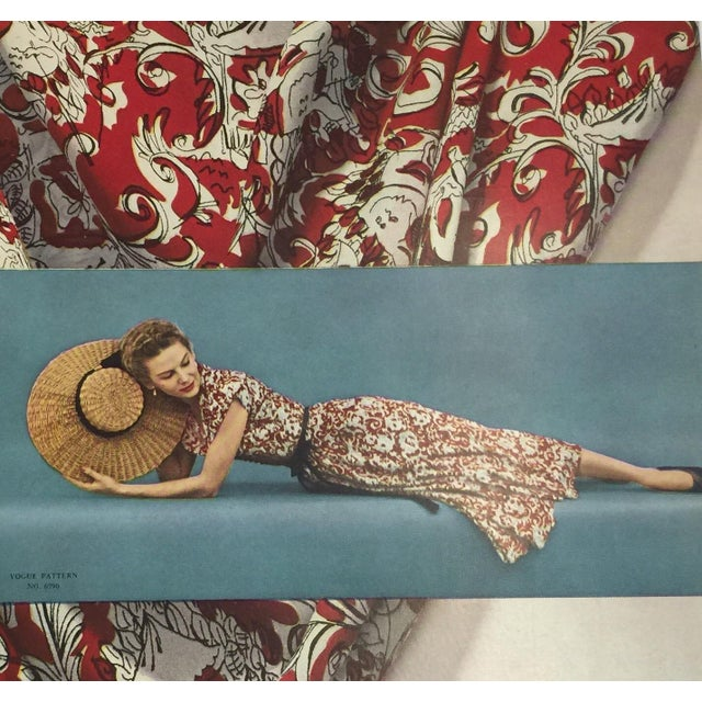 Cottage 1948 Bemberg Rayon Yarn Ad Print For Sale - Image 3 of 3