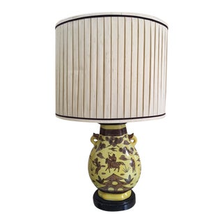 Vintage Paul Hanson Asian Style Urn Lamp For Sale