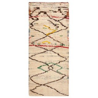 Vintage Moroccan Rug - 4′ × 9′6″ For Sale