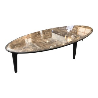 Giorgetti Brown Marble Top Table Coffee Table For Sale