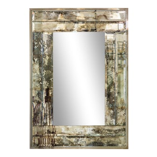 André Hayat Mirror Model 'Minneapolis' With Frame in Oxidized Mirror For Sale