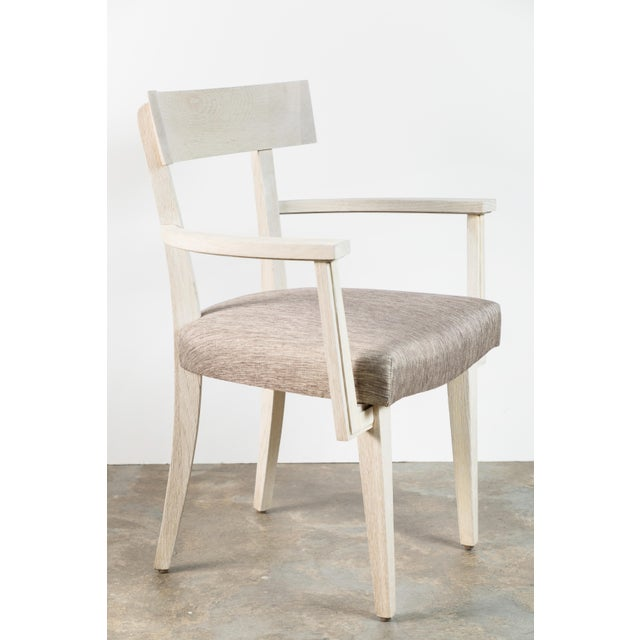 Modern Klismos dining chair or desk chair by Paul Marra. Finish as shown is bleached oak with light wire brushed...