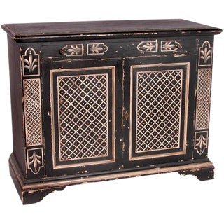 Italian Handpainted Two Door Chest For Sale