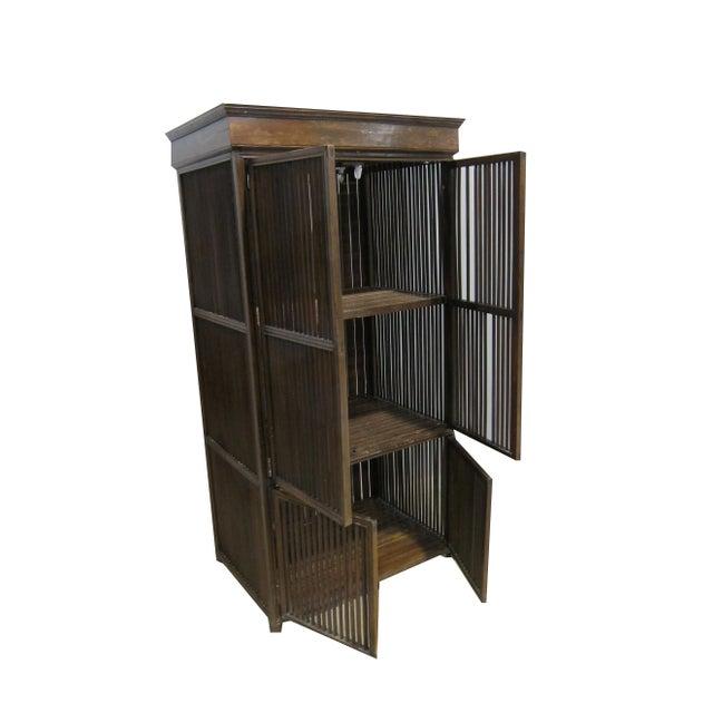 Vintage Sarreid LTD Philippine Teak Cabinet Cupboard - Image 6 of 7