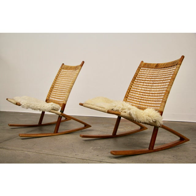 1950s Mid-Century Modern Frederik Kayser Rocking Chairs - a Pair For Sale - Image 13 of 13
