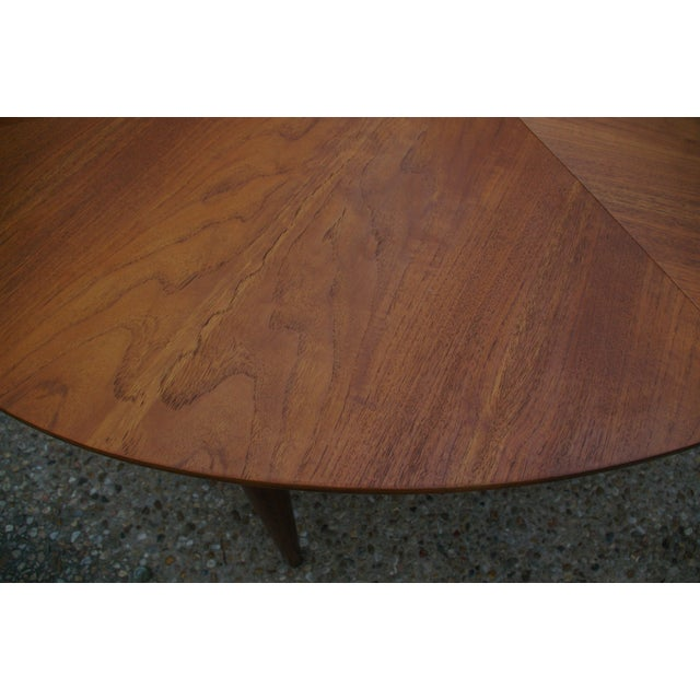 Baker Mid-Century Walnut Dining Table - Image 6 of 8