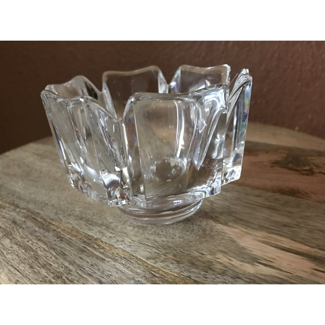 Orrefors Crystal Corona Decorative Bowl For Sale - Image 5 of 7