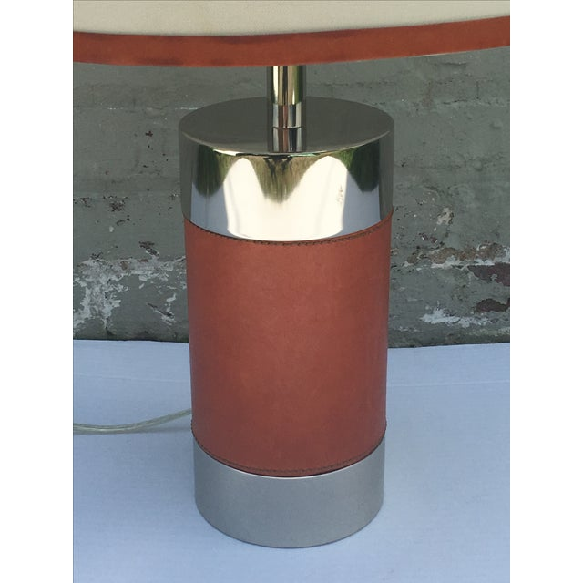 Ralph Lauren Home Chrome & Leather Accent Lamp - Image 3 of 7