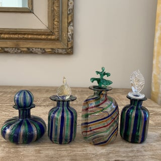 Murano Venetian Glass Perfume Bottles - Set of 4 Preview