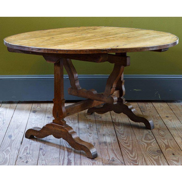 French Tilt-Top Vendage Table For Sale - Image 6 of 6