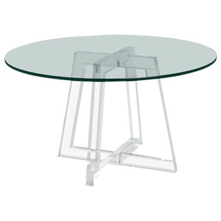 Interlude Home Stella Acrylic Dining Table For Sale
